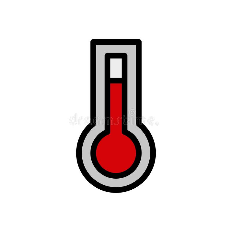 Hot temperature Summer vector logo icon or illustration. Editable stroke and color. Perfect use for pattern and design graphic stock illustration