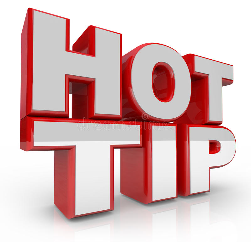 Hot Tip 3d Words Advice for Good Ideas vector illustration