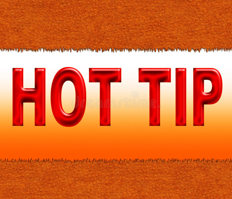 Hot tip. Illustration of hot tip on the background of cut leather royalty free illustration