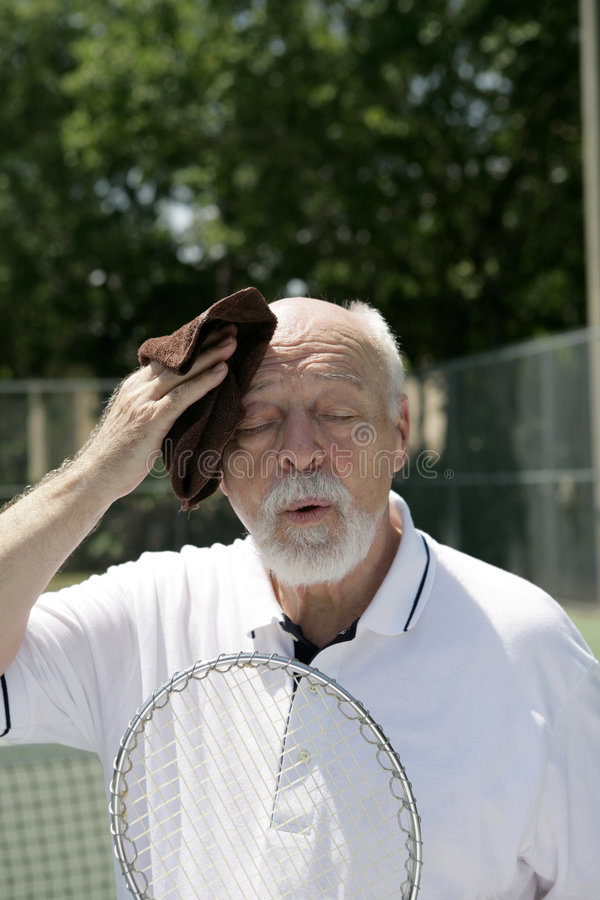 Download Hot And Tired stock photo. Image of person, athletic, racket - 2271882