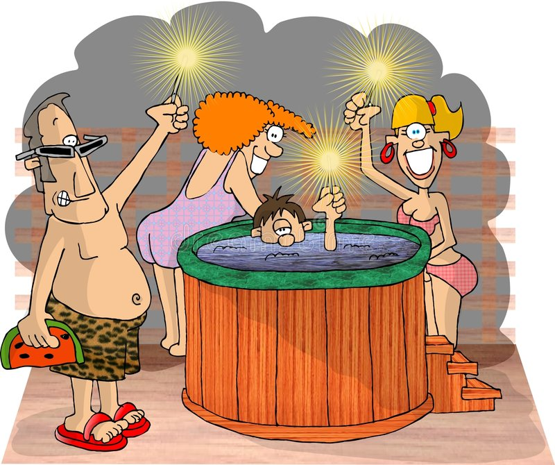 Hot Tubbers stock illustration