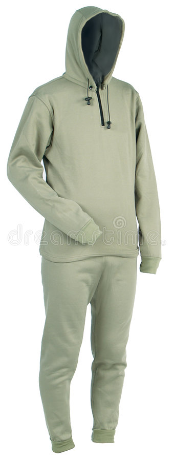 Hot underwear. Warmly clothed invisible man with winter underwear royalty free stock photo