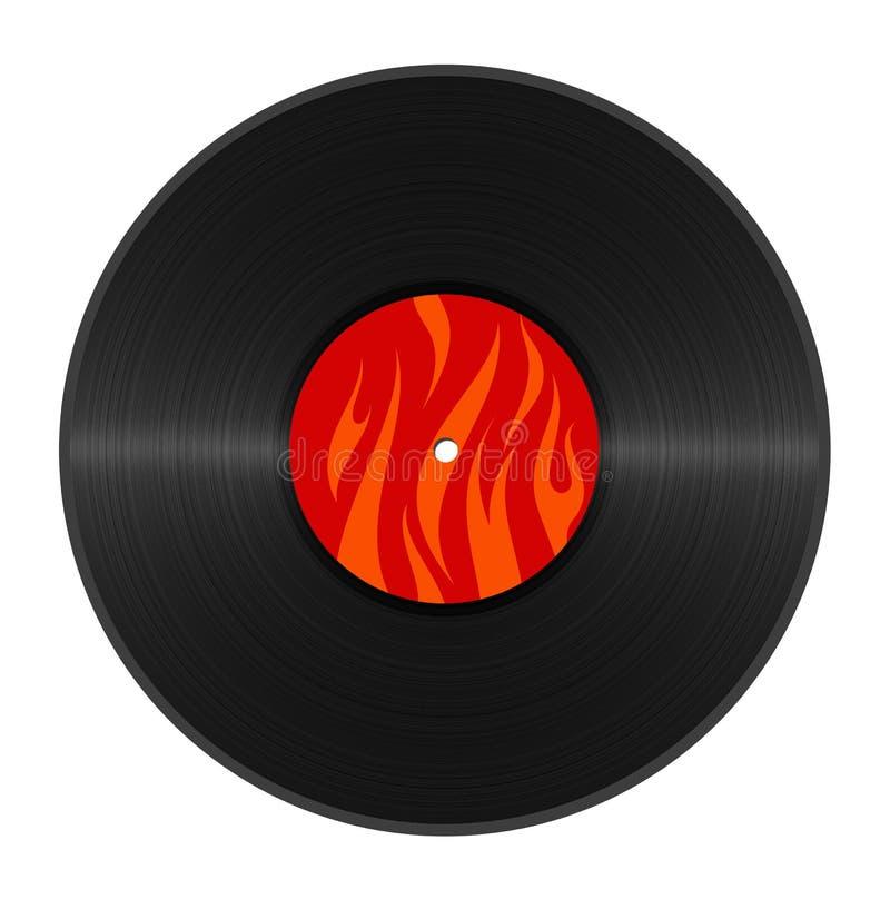Hot vinyl royalty free illustration