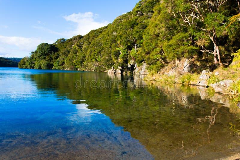 Hot water beach on Lake tarawera stock photos