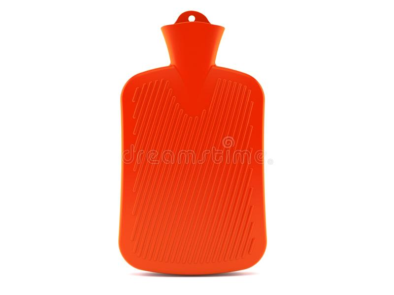 Hot water bottle. Isolated on white background. 3d illustration stock illustration