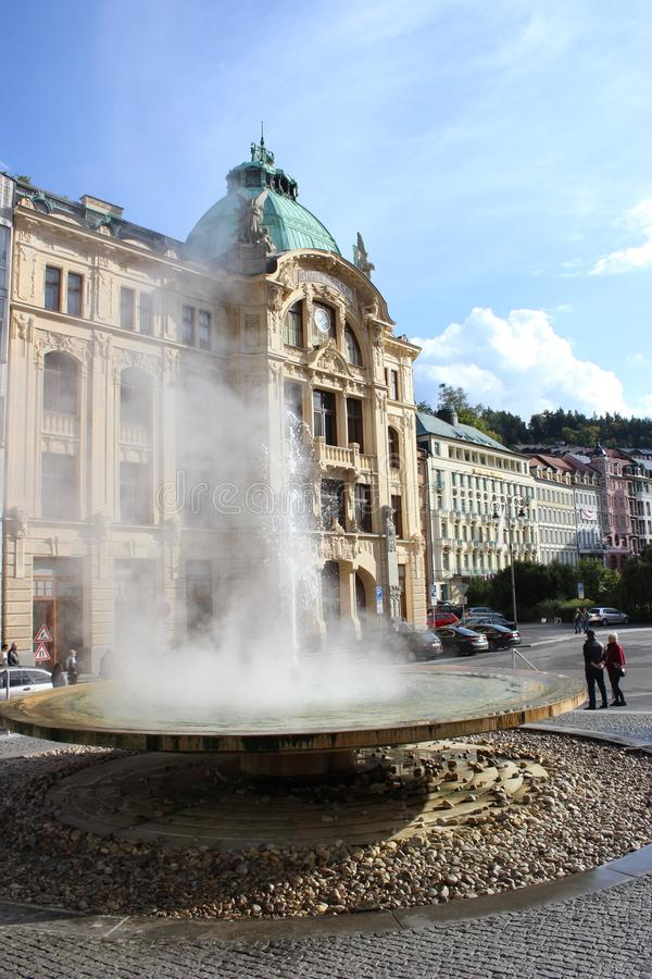 Hot water source in Czech Republic royalty free stock photo