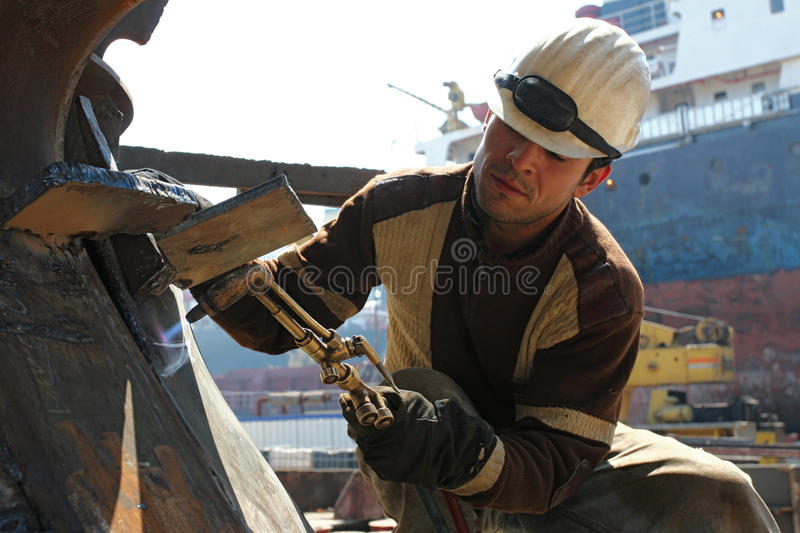 Download Hot Welding On An Construction Area Stock Image - Image: 16598089