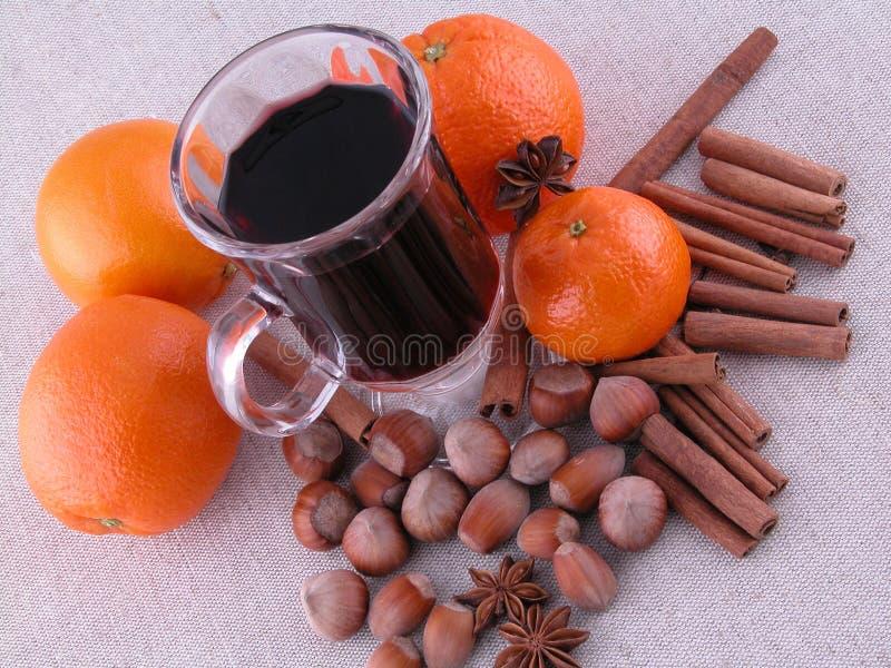 Download Hot wine stock photo. Image of anise, hazelnuts, fruit - 459504