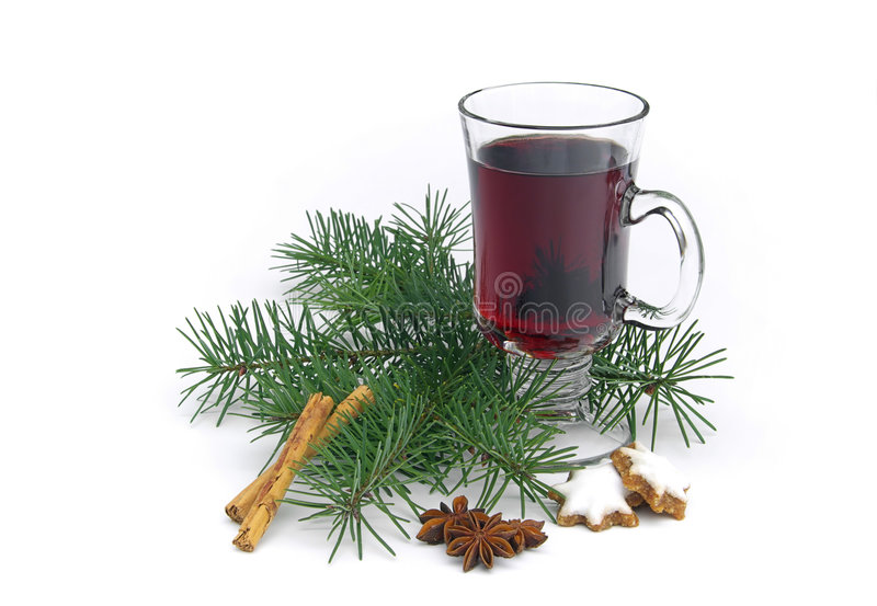 Hot wine punch royalty free stock photo