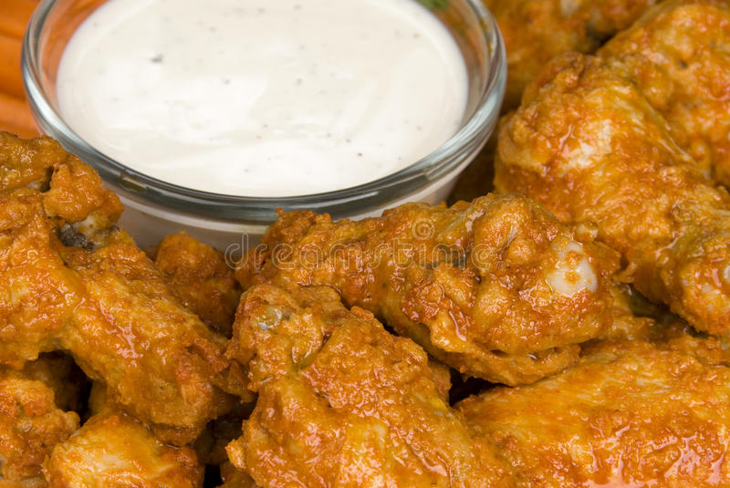 Download Hot Wings With Dipping Sauce Stock Images - Image: 9962494