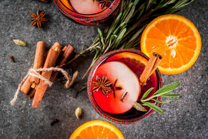 Hot winter mulled wine royalty free stock images