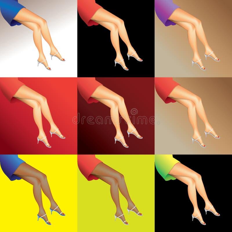Download Hot woman legs stock illustration. Illustration of girl - 25236774