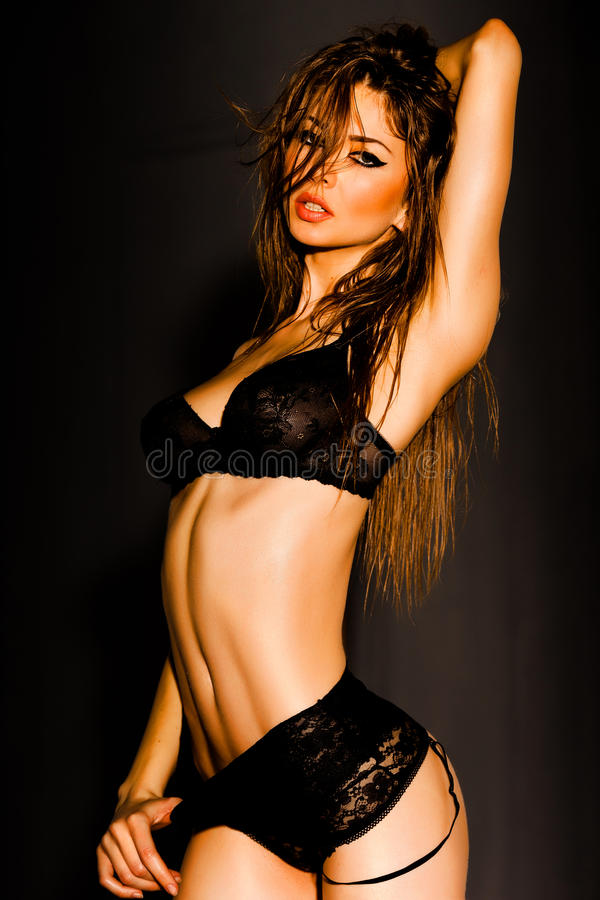 Download Hot Woman In Lingerie With Body Posing Glamorous Stock Image - Image: 29501087