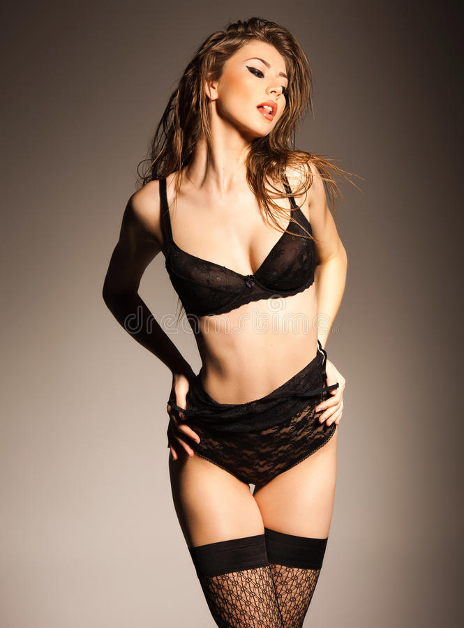 Download Hot Woman In Lingerie With Body Posing Glamorous Stock Photo - Image: 29501096