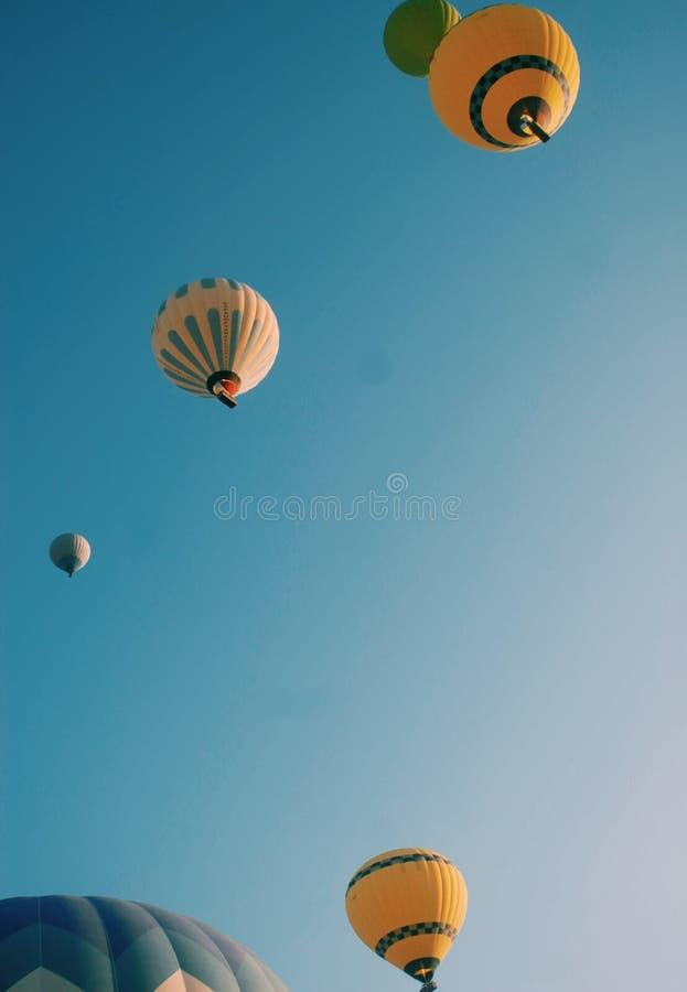 HotAir Balloons Over Cappadocia stock photography