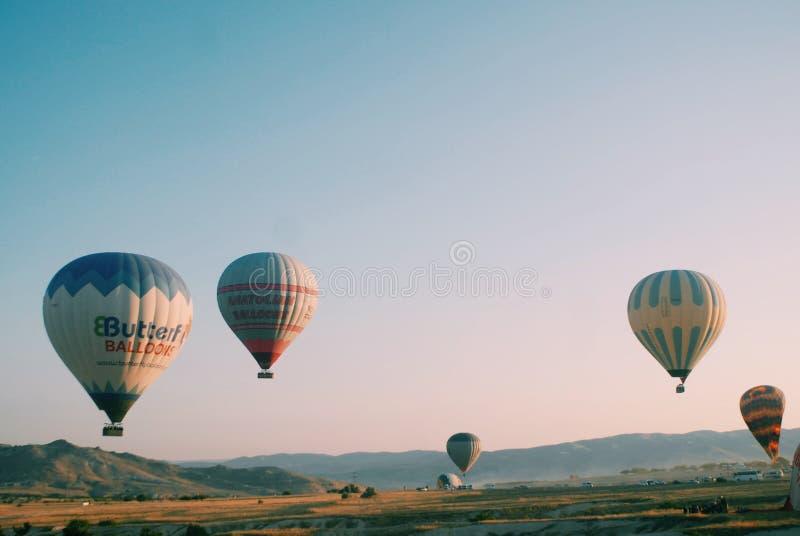 HotAir Balloons Over Cappadocia stock photos