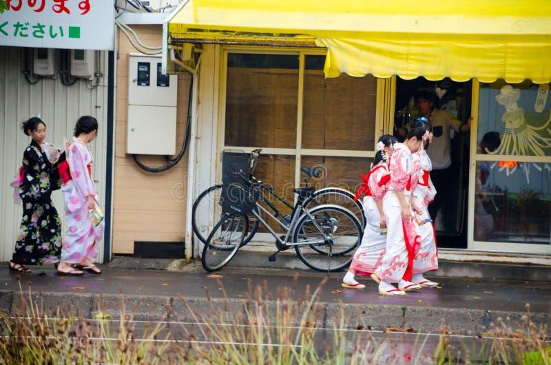 People in Yukata dress royalty free stock photography