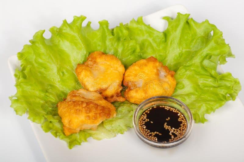 hotate tempura zdjęcie stock