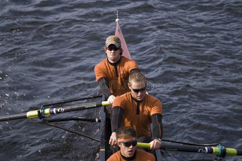 HOTC - Personas del Rowing del Mens de Tejas imagen de archivo