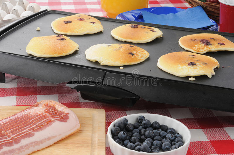 Download Hotcakes Cooking On The Griddle Stock Image - Image of griddle, brunch: 25499561