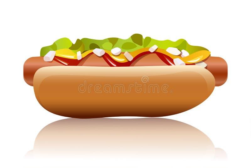 Hotdog lizenzfreie abbildung