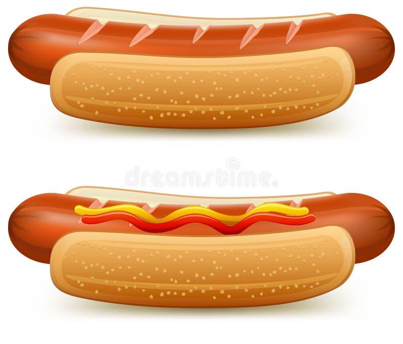 hotdog royalty ilustracja