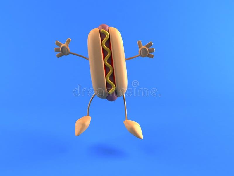Hotdog royalty-vrije illustratie