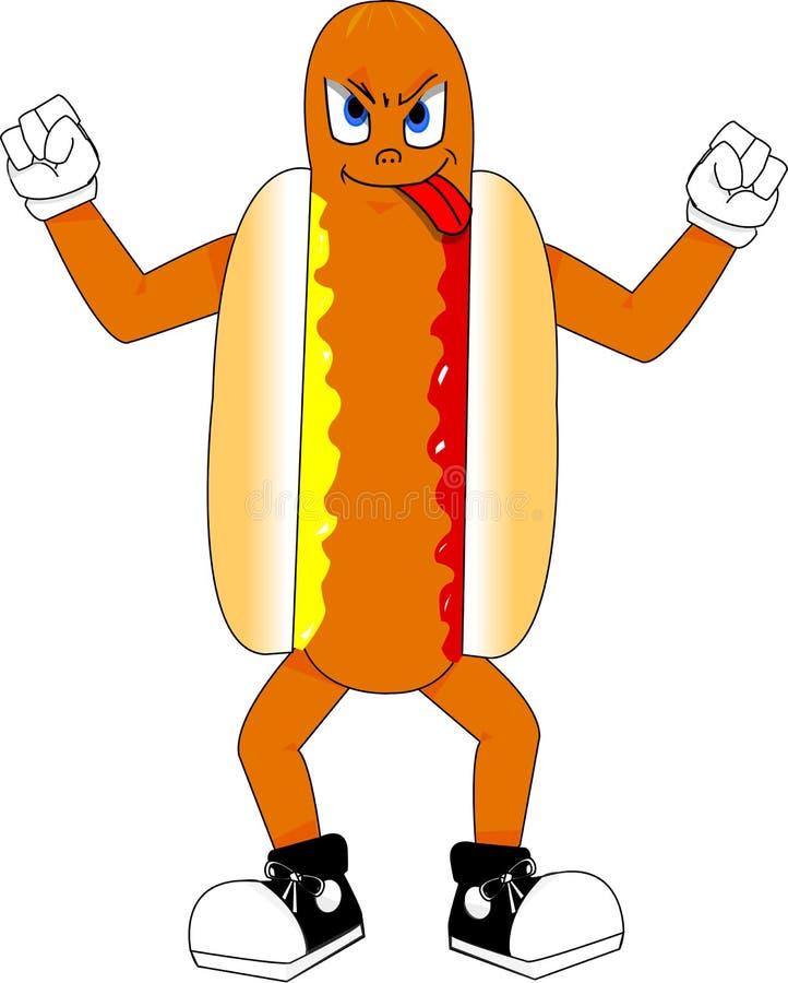 Hotdog-Maskottchen stockbild