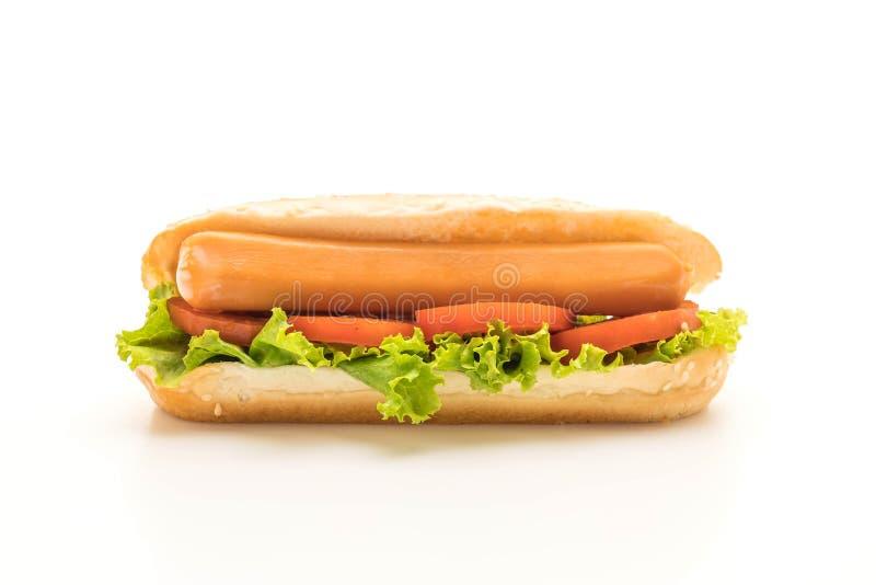 Download Hotdog Med Korven Och Tomaten Fotografering för Bildbyråer - Bild av bulle, skräp: 106832897