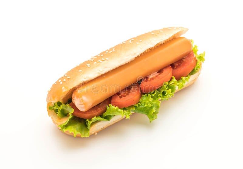 Download Hotdog Med Korven Och Tomaten Arkivfoto - Bild av mellanmål, vitt: 106832922