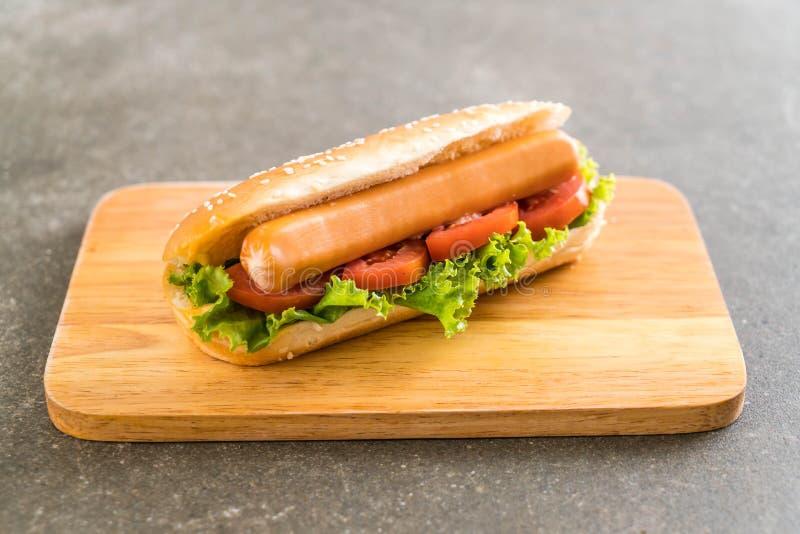 Download Hotdog Med Korven Och Tomaten Arkivfoto - Bild av äta, skräp: 106833804