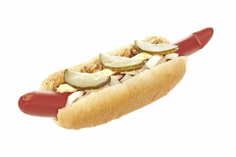 Hotdog na białym tle zdjęcie stock