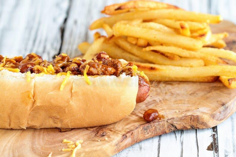Hotdog und Pommes-Frites lizenzfreies stockfoto