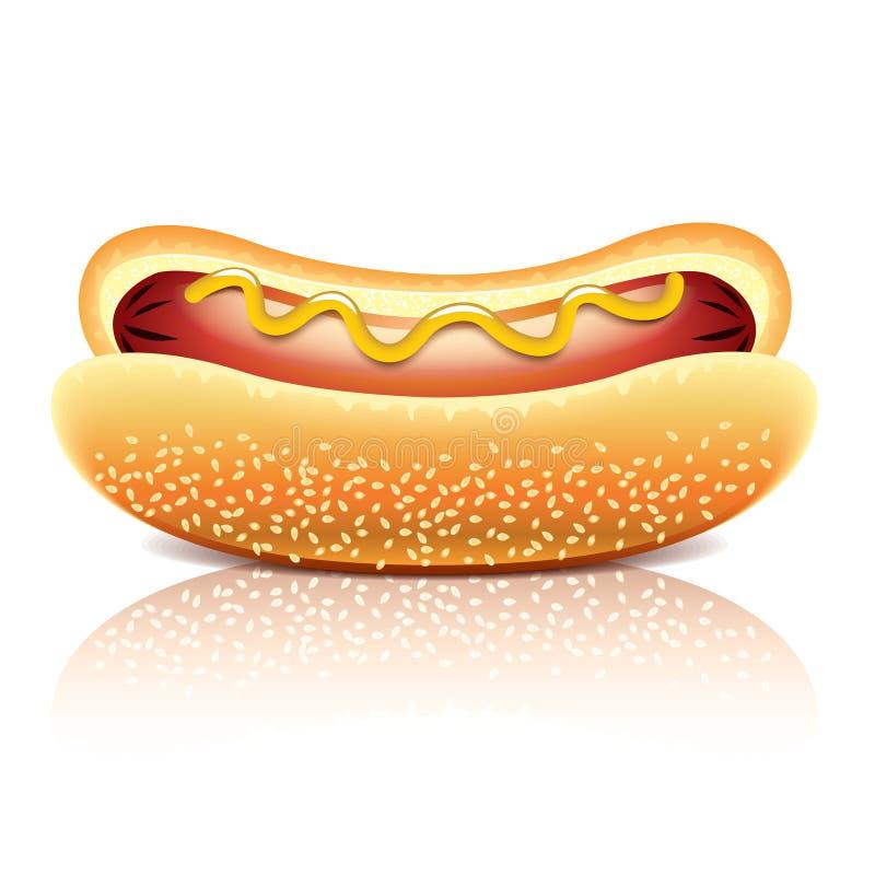Hotdog vectorillustratie royalty-vrije illustratie