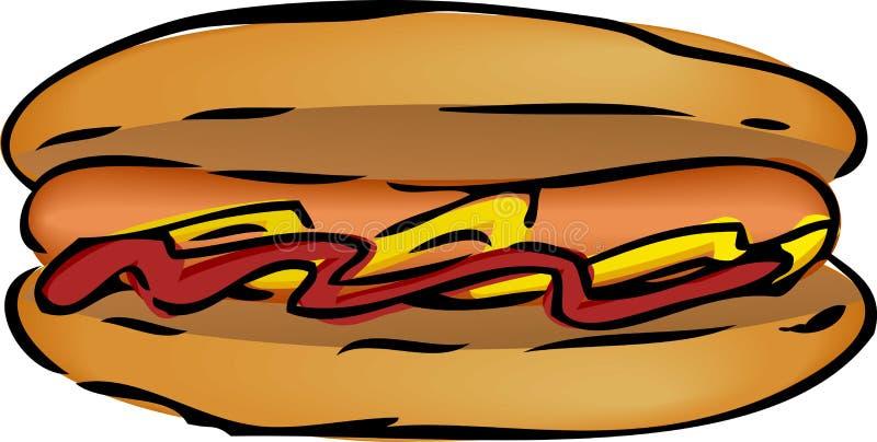 hotdogillustration stock illustrationer