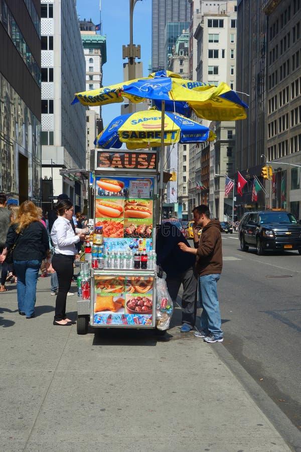 Hotdogkar royalty-vrije stock afbeelding