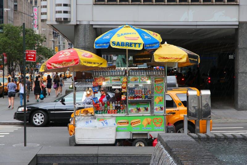 Hotdogkar royalty-vrije stock fotografie