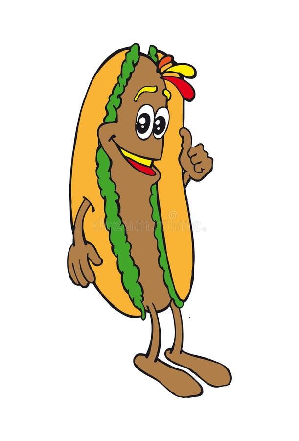 Hotdogkarikatur lizenzfreie stockbilder