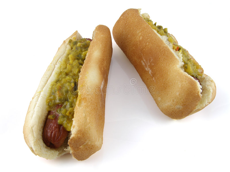 Hotdogs royalty-vrije stock afbeelding