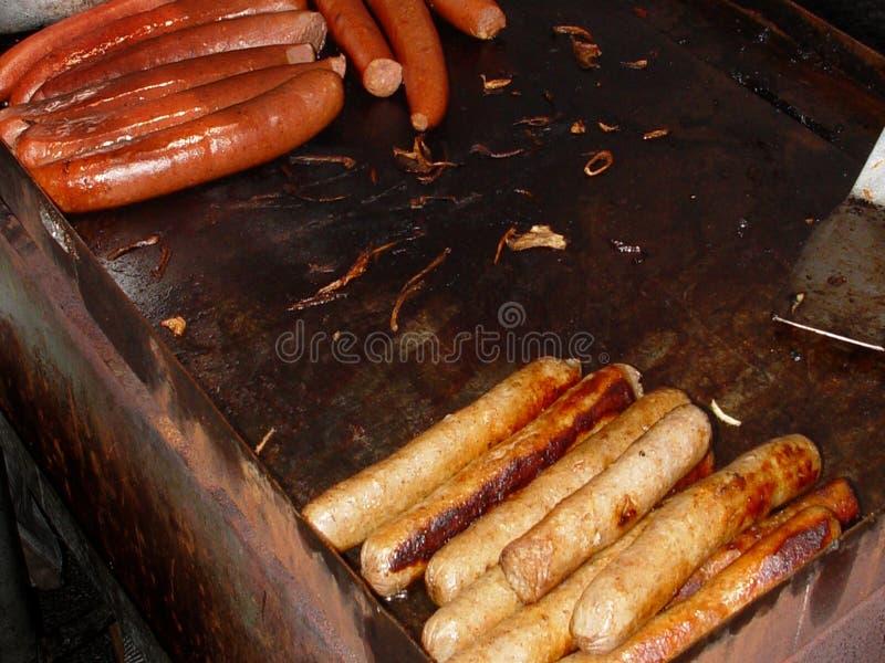 Hotdogs En Worst Royalty-vrije Stock Foto's