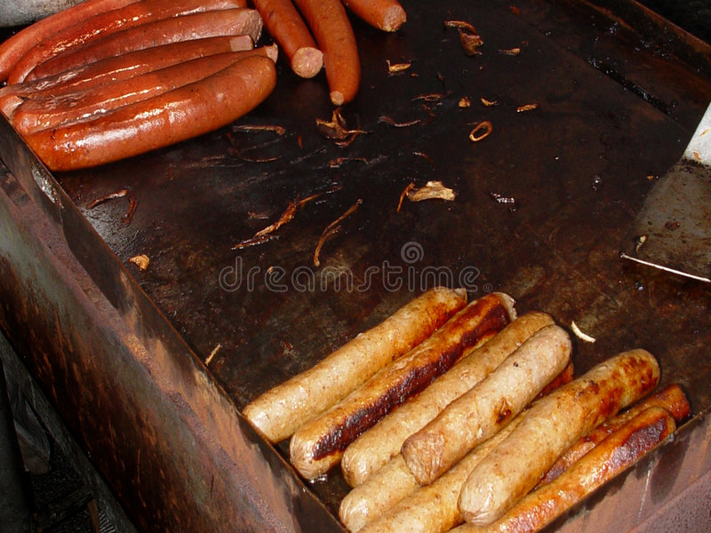 Hotdogs Und Wurst Lizenzfreie Stockfotos