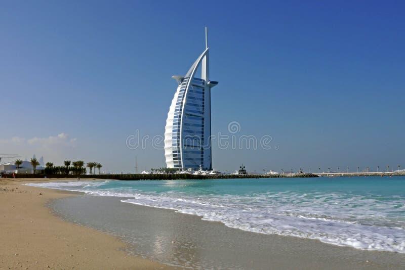 Hotel árabe del al de Burj, Dubai imagenes de archivo