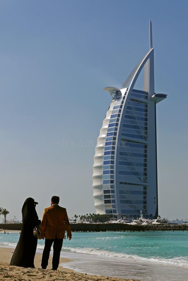 Hotel árabe del al de Burj, Dubai imagen de archivo libre de regalías