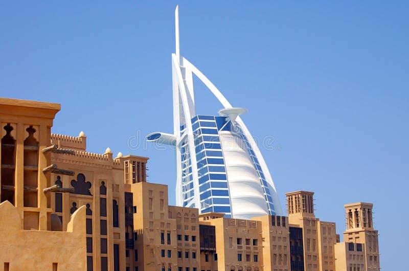 Hotel árabe Dubai do Al de Burj fotos de stock royalty free