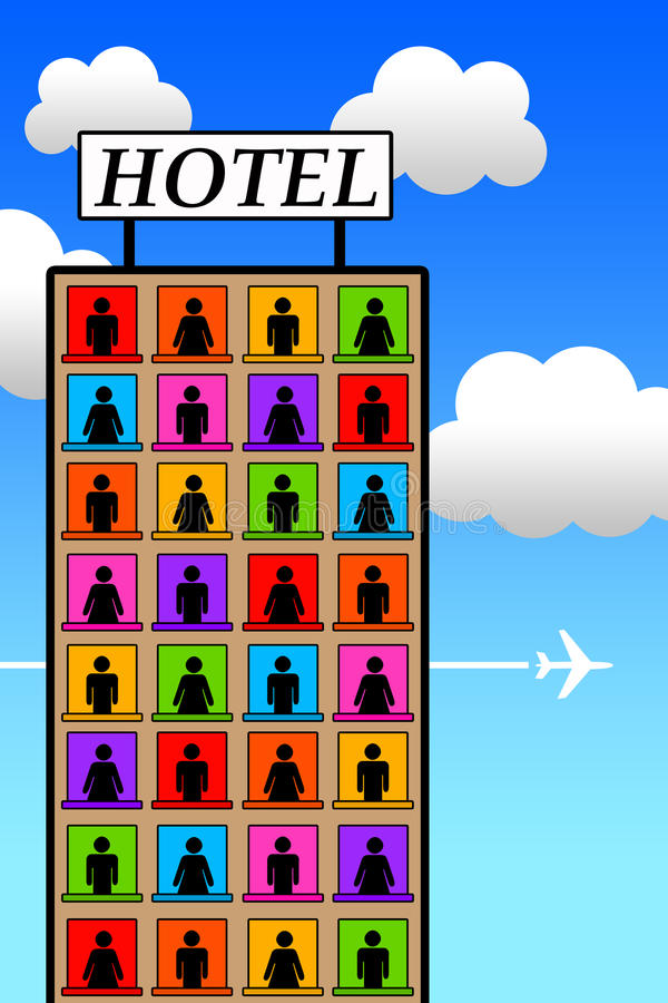 Download Hotel ilustracji. Ilustracja złożonej z książka, budynki - 28972589