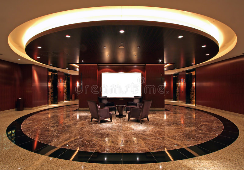 Hotel. Luxurious hotel lobby with marble floor