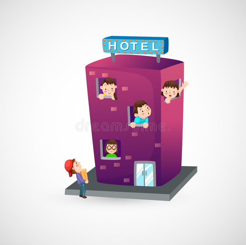 hotel royalty illustrazione gratis