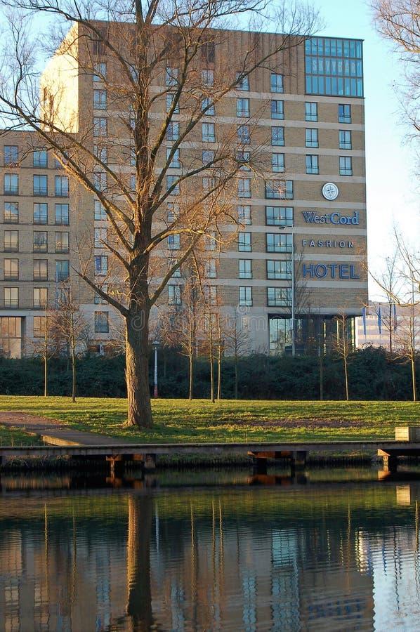 Hotel aan het park in Amsterdam royalty-vrije stock fotografie