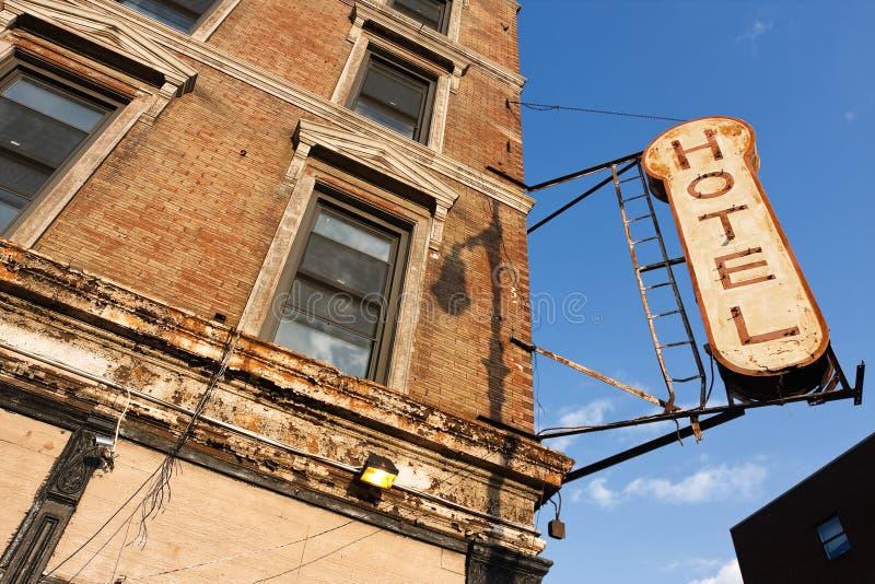 Hotel abandonado imagens de stock