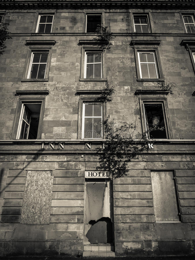 Hotel abandonado foto de archivo